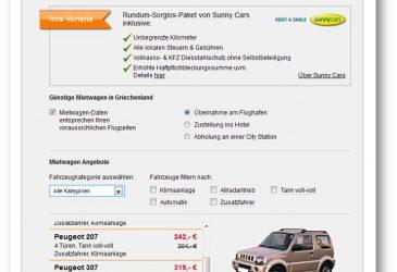 """Brandneues """"Mietwagen Cross-Selling-Tool"""" für Reise-Webseiten gestartet."""